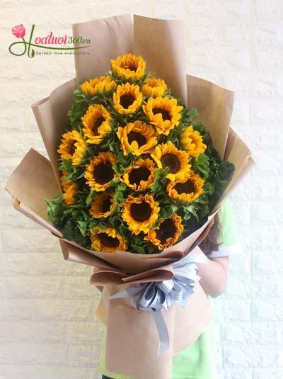 Bó hoa hướng dương - Chúc mừng