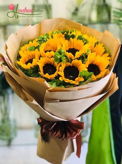Bó hoa hướng dương giản đơn