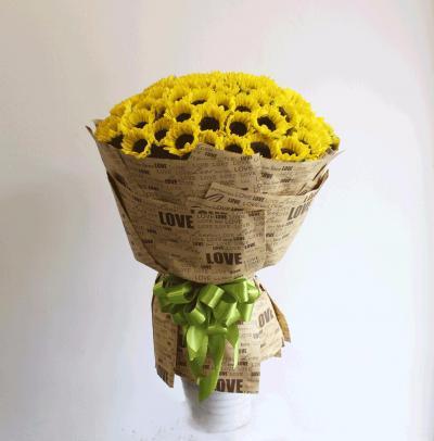 Bó hoa hướng dương khổng lồ