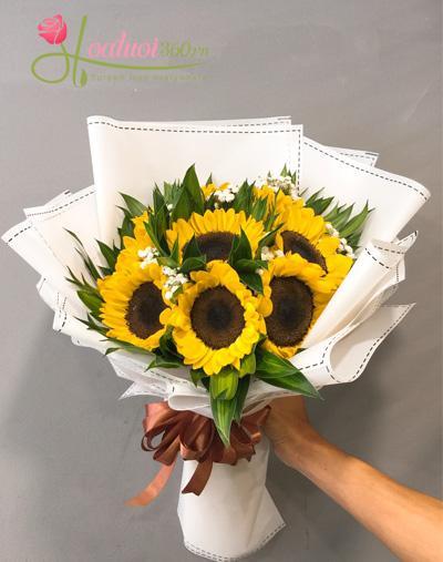 Bo hoa hướng dương tặng bạn