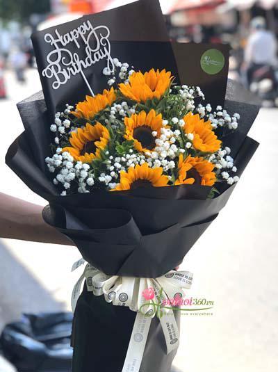 Bó hoa hướng dương tặng sinh nhật