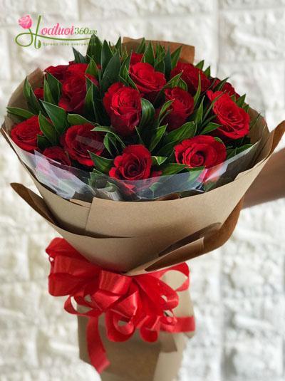 Bó hoa lãng mạn