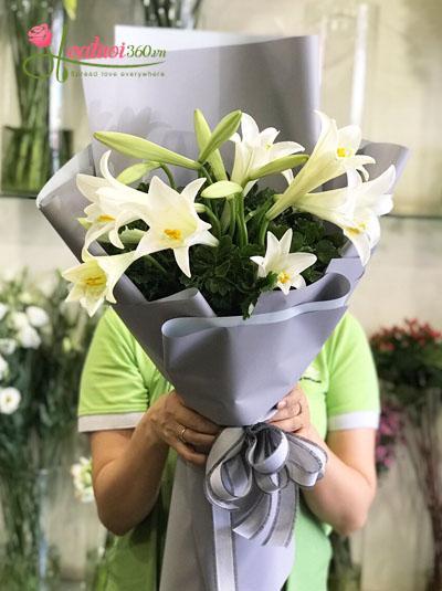 Bó hoa loa kèn- Nồng nàn Hà Nội