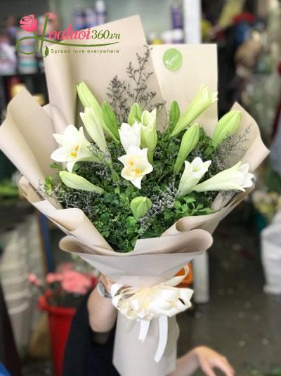 Bó hoa loa kèn- Tình yêu Hà Nội
