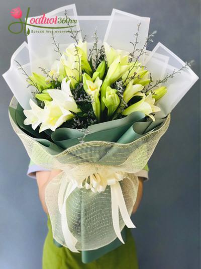Bó hoa loa kèn trắng - Cô gái tháng tư