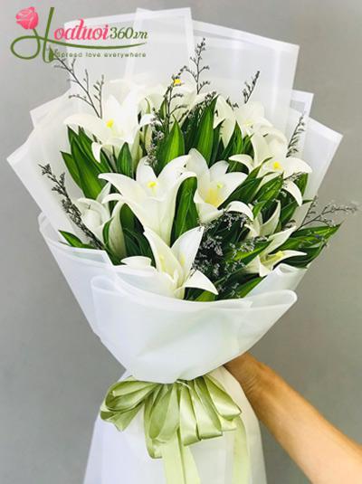 Bó hoa loa kèn trắng - Điều ước giản đơn