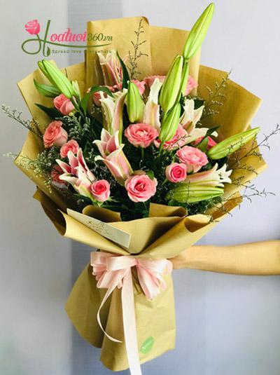 Bó hoa ly hồng - Cuộc sống dịu dàng