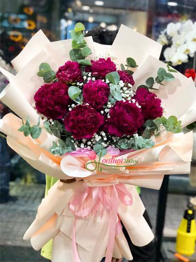 Bó hoa mẫu đơn - Hạnh phúc trào dâng