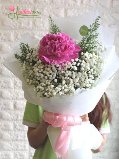 Bó hoa mẫu đơn hồng - Pink Peony