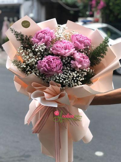 Bó hoa mẫu đơn - Lời cảm ơn