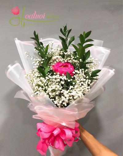 Bó hoa mẫu đơn tươi đẹp