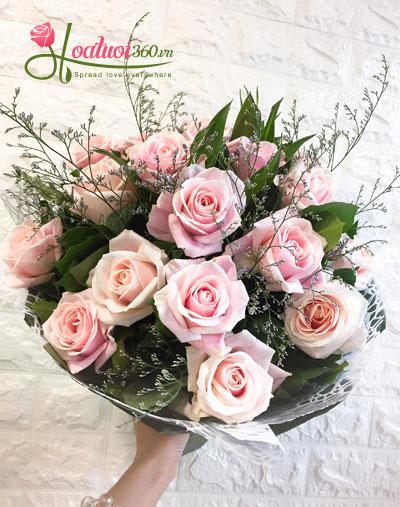 hoa cưới hồng song hỷ ngày trọng đại