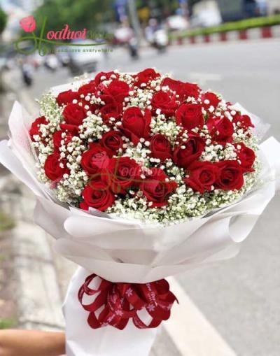 Bó hoa Rực cháy tình yêu