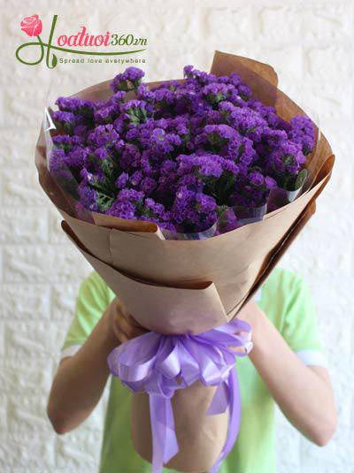 Bó hoa salem màu tím - Thủy chung
