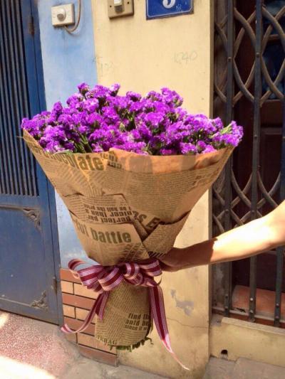 Bó hoa salem tím cho tình yêu thủy chung
