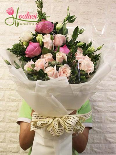 Bó hoa sen cách điệu