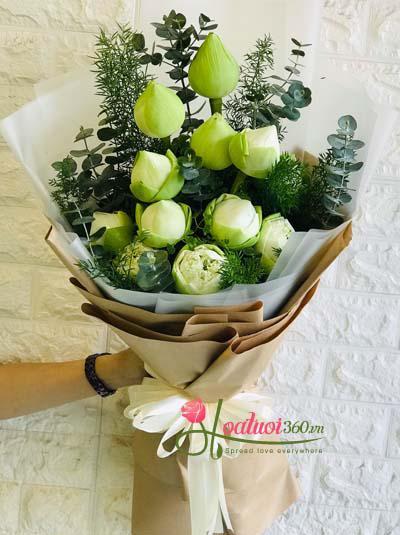 Bó hoa sen trắng được ưa chuộng nhất