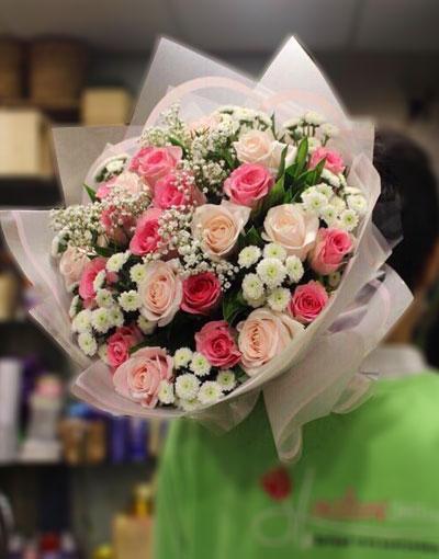 Hoa hồng sinh nhật tặng vợ Em là số một