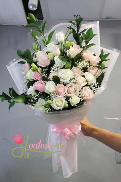 Bó hoa sinh nhật: Dịu dàng