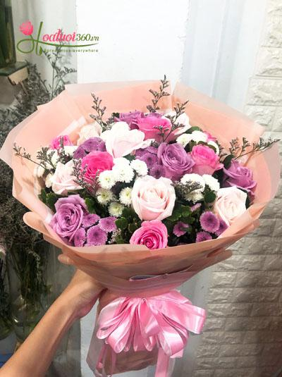 Bó hoa sinh nhật: Lời yêu thương