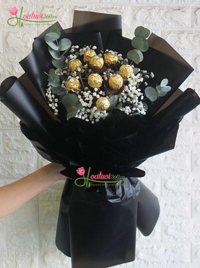 Bó hoa socola ngọt ngào