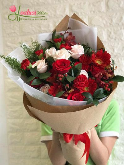 Bó hoa- sự phối hợp tinh tế