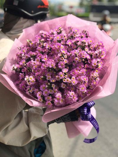 Bó hoa thạch thảo tím - Đẹp như mơ
