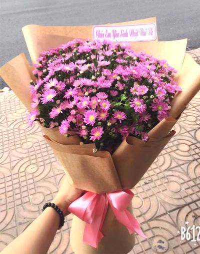 Bó hoa thạch thảo tím - Dịu dàng