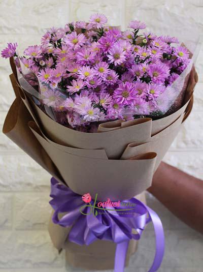 Bó hoa thạch thảo tím xinh xắn