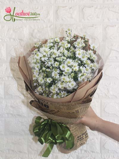Bó hoa thạch thảo trắng - Tình thơ