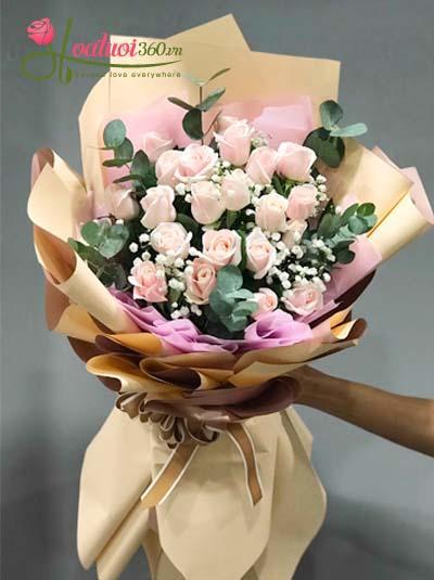Bó hoa tình hồng