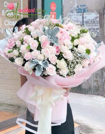 Bó hoa to đẹp chúc mừng