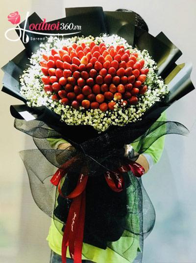 Bó hoa trái cây dâu tây - Joyful