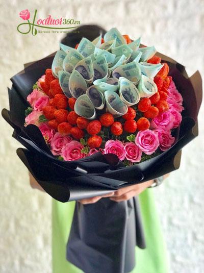 Bó hoa trái cây- Trái thơm tình yêu