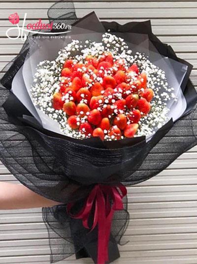 Bó hoa trái cây - Vị ngọt môi em