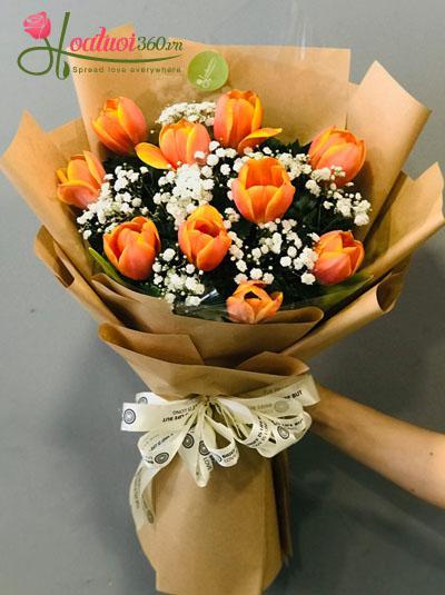 Bó hoa tulip cam - Nồng cháy