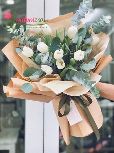 Bó hoa tulip trắng - Bày tỏ
