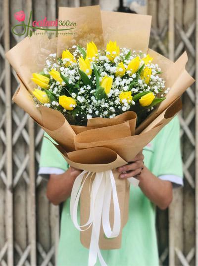 Bó hoa tulip vàng - Ước nguyện