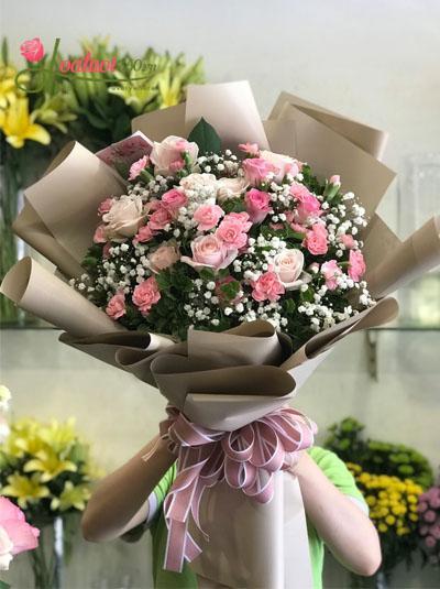 Bó hoa tươi đẹp - Nụ cười của em
