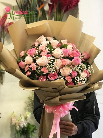 Bó hoa tươi đẹp - Tình ấm nồng