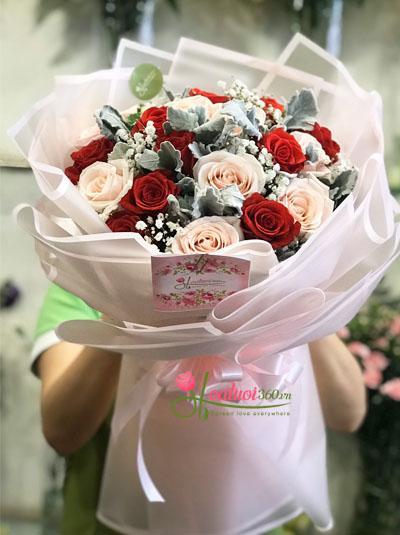 Bó hoa tươi - Niêm vui ngày mới