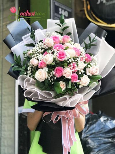 Bó hoa tuyệt đẹp đốn tim nàng