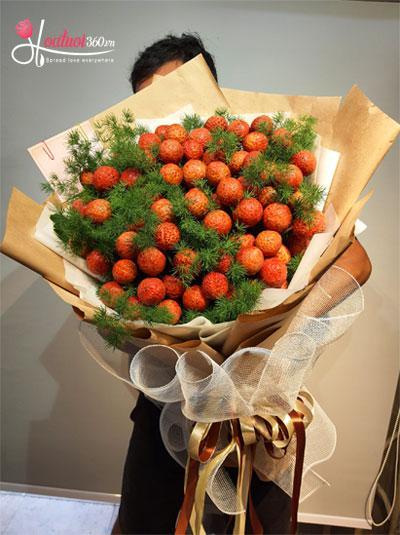 Bó hoa vải thiều - Hương vị tình yêu