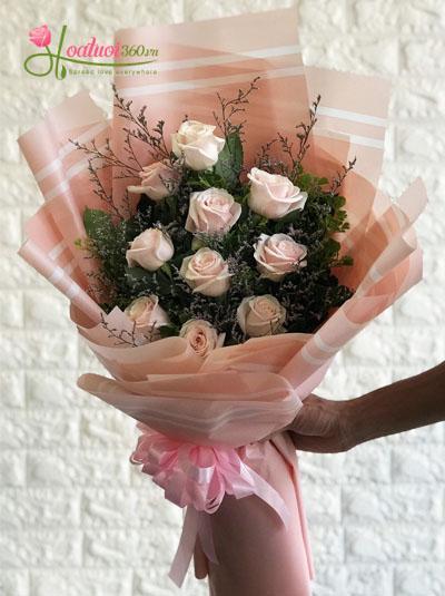 Bó hoa xinh tặng bạn bè và đồng nghiệp