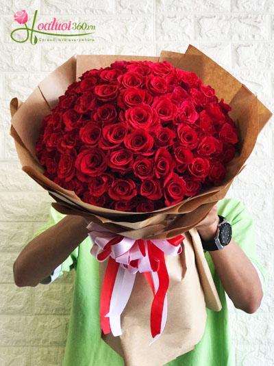 Bó hồng 99 bông- đốn tim nàng