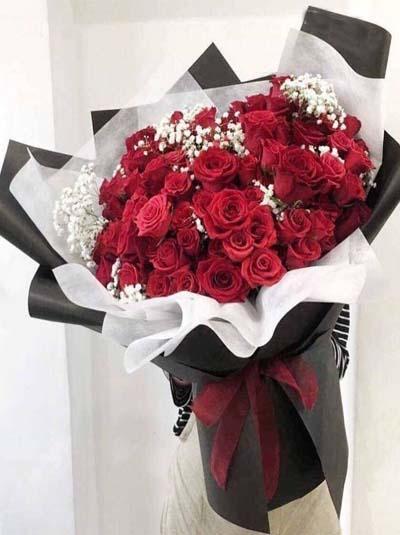 Bó hồng 150 bông phong cách Hàn Quốc