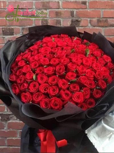 Bó hồng 99 hồng Ecuador say đắm tim nàng