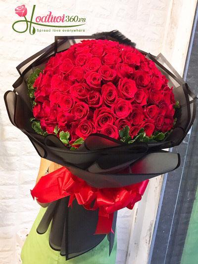Bó hồng đỏ 99 bông cực đẹp