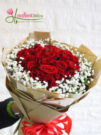 Bó hồng đỏ- Điều giản đơn