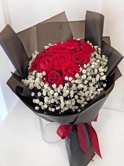 Bó hồng đỏ tặng em